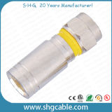 F Compression Connector for RF Coaxial Cable Rg59 RG6 Rg11 (F046)