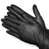 M5.5g Black Industrial Disposable Latex Powder Free Gloves