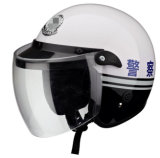 Security Police Motocross Helmet with Visor Windbreak