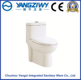 Household One-Piece Ceramic Toilet with Double Hole Siphone