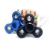 Antianxiety Reduce Pressure Wreak Fidget Colorful Metal LED Finger Spinner Top Toy