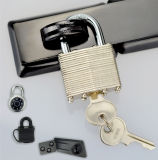 (740) Steel Padlock with Brass Cylinder and Key