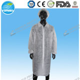 Stylish Disposable Medical Hospital Coat, Working Coat Uniform, Nonwoven Protective Coat