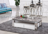 Rectangle Man-Made Marble Coffee Table
