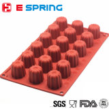 Wholesale Chinese Manufacturer DIY 18 Cavity Non-Stick Cannele Silicone Cake Mold