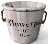 White Wood Antique Flower Pot Special Planter