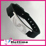 Hot Sell Good Quality Silicone Bracelet with CZ Crystal