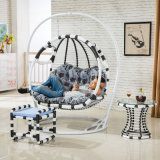 Double Seat Swing Wicker Egg Chair Living Room Swing Chair Luxury Outdoor Furniture (D155)