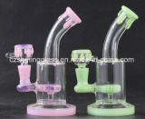 Wonderful Color Small Glass Smoking Waterpipe for Daily Use