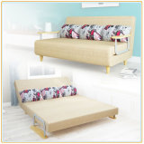 Folding Sofa Bed Design Space Saving Wooden Frame Sleeper (197*180cm)