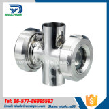 63.5mm Stainless Steel AISI304 Sanitation Butt Welded Sight Glass with Protection Net