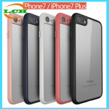 Ultra-Thin Soft TPU Bumper Clear Back PC Case for iPhone7/7plus