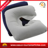 Plush Inflatable Neck Pillow for Airplane/Car