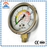 Stainless Steel Glass Lens Gauge Silicon Oil Filled Nitrogen Pressure Gauge