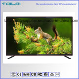 "OEM 50"" Ultra HD WiFi Smart Eled TV Titanium Alloy Frame Red Black"