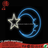 LED Star Moon Shape Neon Flexcsign Light for Christmas Ramadan Decoration