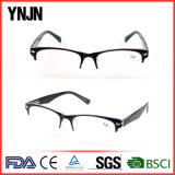 China Retro Black Half Frame Mens Reading Glasses (YJ-147)