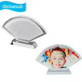 Fan-Shaped Screen Full Color Photo Printed Crystal
