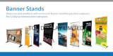 Banner Printing for Vertical Banner Stands and Roll up Banners