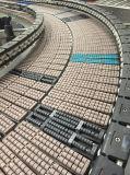 Roller Top Belt Curved Running Chain Conveyor