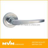 Stainless Steel Door Handle on Rose (S1008)