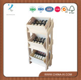 Wooden Wine Display Shelf with 3 Wooden Box