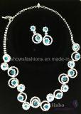 Shiny Glass Diamond Bridal Jewelry Sets (XJW1693)