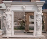 ODM/OEM Marble Fireplaces, Carved Fireplace Mantels Person Statue