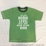 Fashion Green Boy T-Shirt in Children Clothes with Print Sq-6327