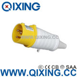 Cee 32A 110V Yellow Single Phase Industrial Electrical Socket Plug
