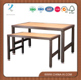 Nesting Table Set with Lacquered Top for Retail Store