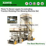 Multilayer Blown HDPE Film Double Air Ring Extrusion Machine