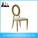 Infinity Rose Gold Frame White Cushion Wedding Chair