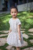 100% Cotton Kids Girls Holiday Dresses for Summer