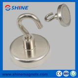 D25mm Neodymium Pot Magnet with Hook Rpm-E25