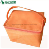 Lightweight Plain Zippered Cheap Eco Polyethylene Nonwoven Cooler Bag