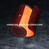 Cylinder Bow PU Leather Necktie Box for Gift Packaging