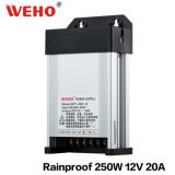 Factory Outlet IP53 Rainproof 250W-12V Switching Power Supply (WFY-250-12)