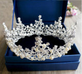 2018 Newest Customized Christmas Party Decoration Crystal Crown Wedding Glass Stonne Golden Rhinestone Tiaras Bridal Crown (BC05)