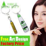 OEM Custom High Quality Soft PVC Keyring for Gift Retractable