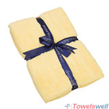 Yellow Soft Microfiber Terry Bath Towel