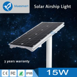 15W IP65 Integrated/All-in-One Outdoor Solar Street Garden Lighting