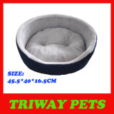 Denim & Flannel Foam Pet Bed (WY161028)