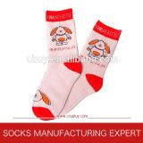 100% Cotton Girl′s Jacquard Socks