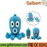 Cartoon Octopus Model PVC USB 2.0 Flash Memory