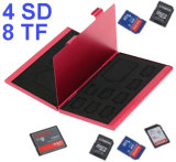 Logo Printing 12 In1 Large Capacity for 4 SD Micro SD SDHC Sdxc MMC 8 TF SIM Card Aluminum Storage Box Bag Memory Card Case Holder Wallet