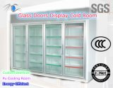 Energy-Efficient Four Doors Display Room for Supermarket or Store
