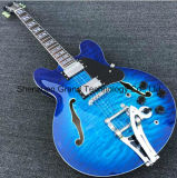 Hollow Body Archtop Jazz Electric Guitar in Quilted Maple (TJ-262)