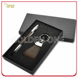 Fashion Leather Key Holder and Pen Gift Set