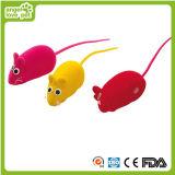 Lovely Vinyl Flocking Mouse Cat Toys (HN-PT541)